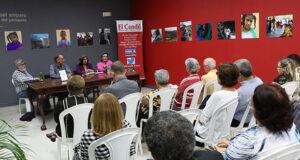 Los profesores universitarios Gary Gutiérrez Renta, Beatriz Navia Antezana y Vivien Mattei Colón estuvieron a cargo de la presentación del libro.