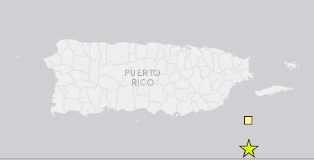 Dos temblores se registraron durante los pasados cuatro días al Sureste de Puerto Rico.
