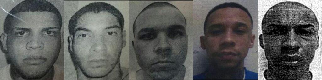Jaime de León Hernández, Ryan Díaz Guzmán, Alexander Mangual Toledo, Michael Lucca Libran y Yelin Otaño Matos. (Suministradas / Policía de Puerto Rico)