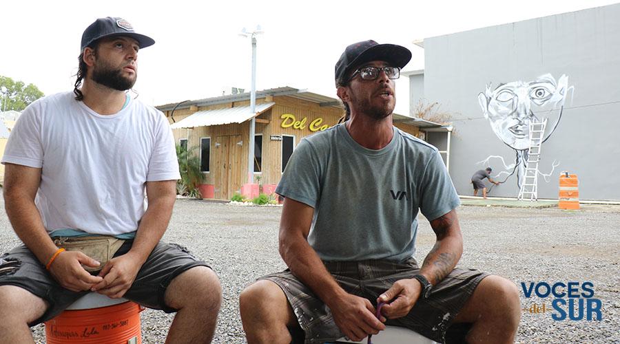 Rodrigo Feliciano Cappas y Walter Echevarría, de la Hermandad Cultural Guayanillense. (Voces del Sur)