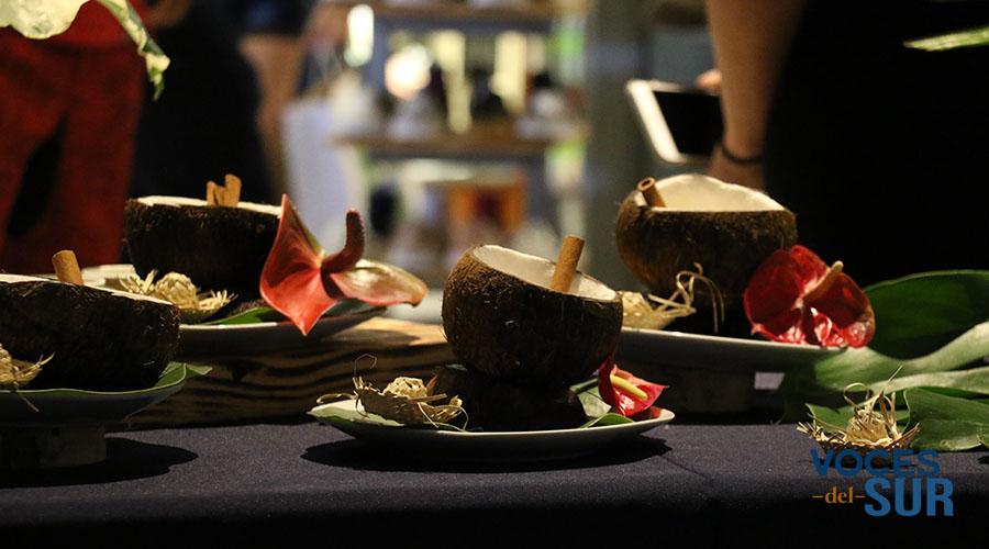 Coquito elaborado con café y helado de Aloe Natural The Plant Shop.
