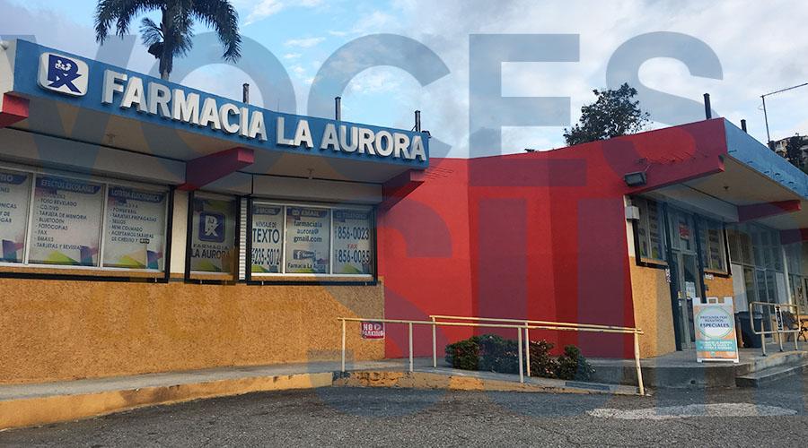 Farmacia La Aurora en Yauco, donde labora el farmacéutico Osvaldo Antommattei. (Voces del Sur / Michelle Estrada Torres)