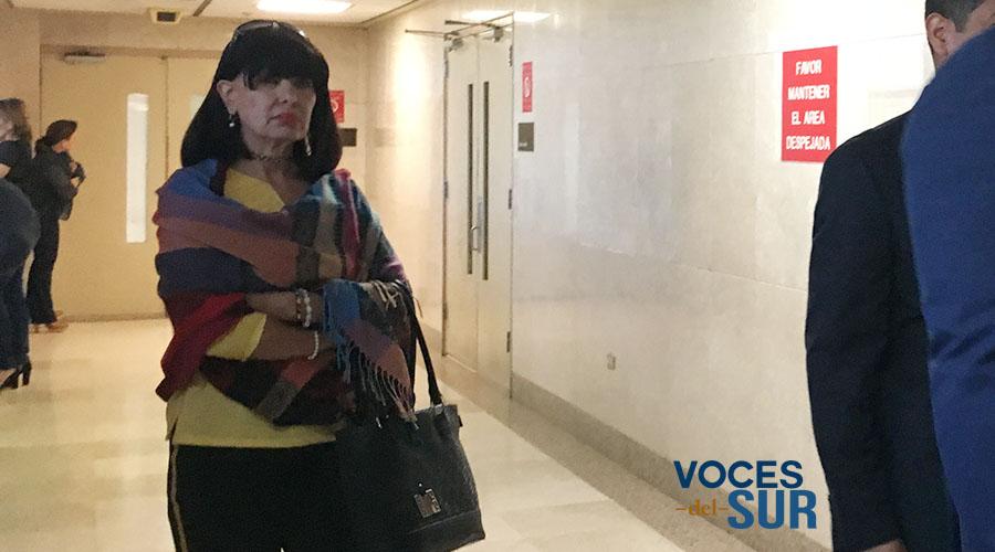 Licenciada Noemí Beltrán, abogada de Juan Luis Cornier Torres en el caso de Ley 54. (Voces del Sur / Michelle Estrada Torres)