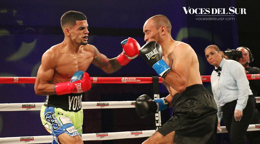 """Esta fue la décima pelea para Carlos """"Purin"""" Caraballo. (Voces del Sur / Michelle Estrada Torres)"""