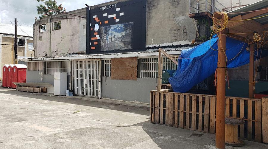 Estructura donde se levantaría la posada en Arroyo. (Suministrada)