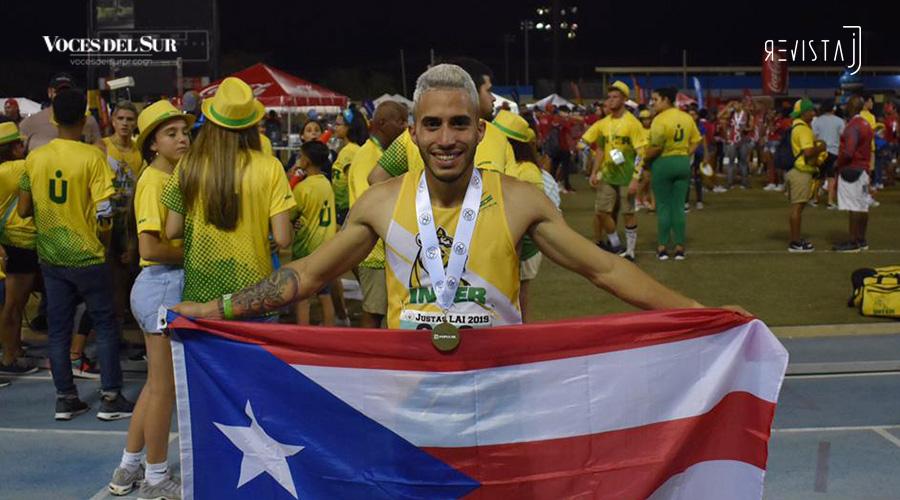 Ricardo Feliciano, de la Universidad Interamericana de Puerto Rico (UIPR), resultó el Atleta Más Valioso de las Justas de Atletismo 2019. (Voces del Sur / Revista J / Jean Cosme Crespo)