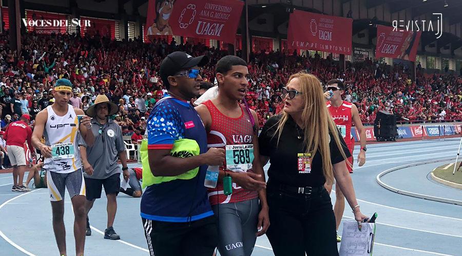 Ryan Sánchez Estrada ganó cómodo el evento de 800 metros de las Justas de Atletismo 2019. (Voces del Sur / Revista J)