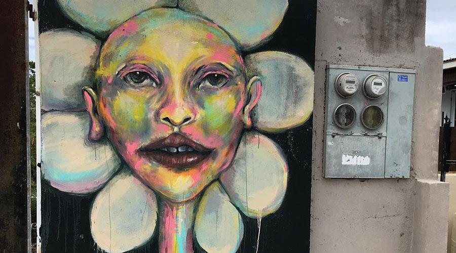 Mural de Valeria Mercado. (Facebook / Guánica: color y vida)