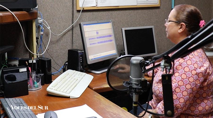 Maribel Vázquez, administradora de Radio Casa Pueblo. (Voces del Sur / Michelle Estrada Torres)