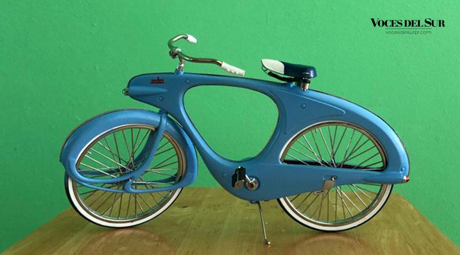 Modelo Bowden Spacelander exhibido en el Museo de Arte Moderno de Nueva York. (Voces del Sur / Sara R. Marrero Cabán)