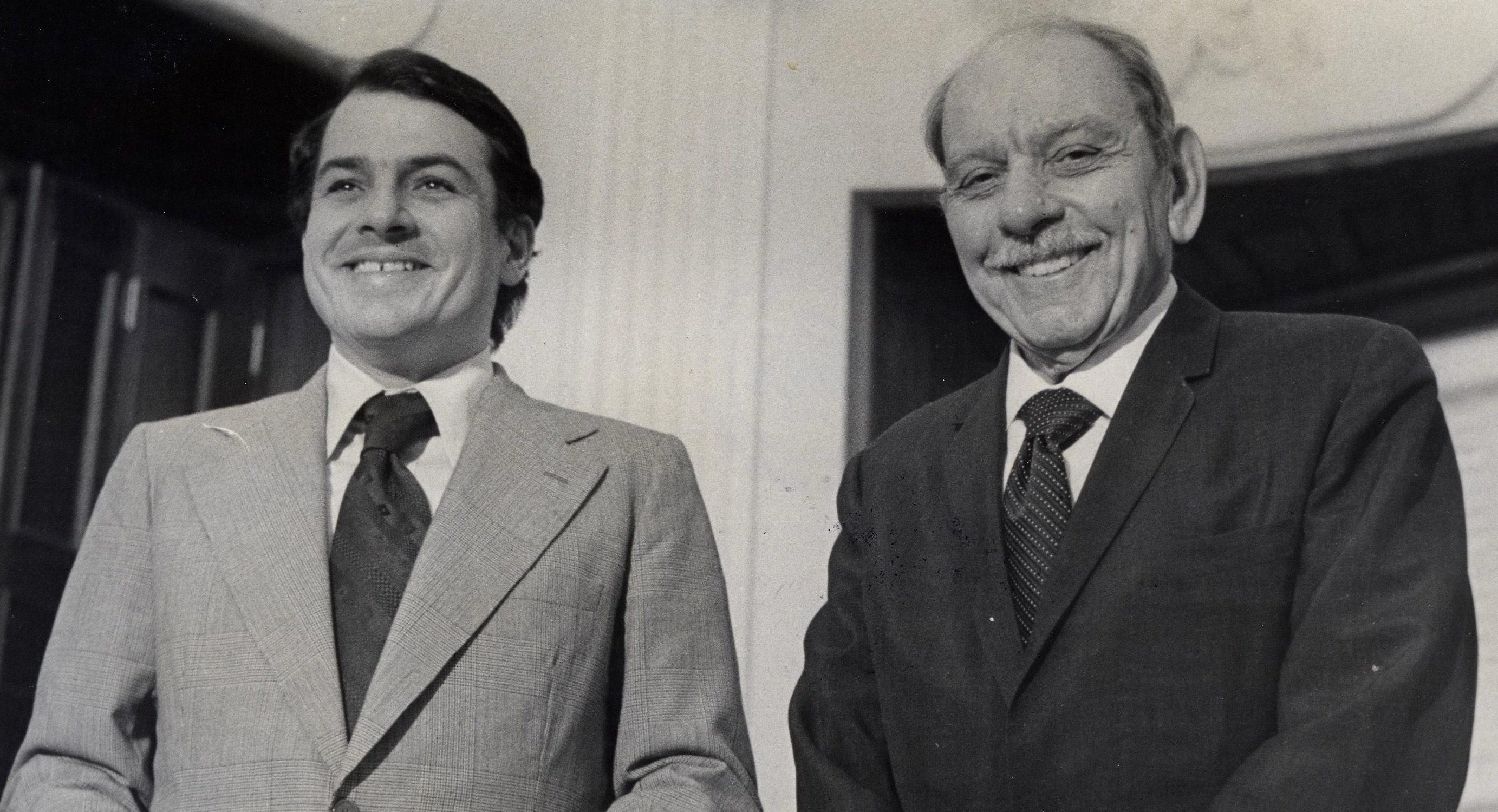 Rafael Hernández Colón y Luis Muñoz Marín. Foto de 1973. (Suministrada)