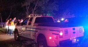 Agentes de la Policía Estatal y Municipal, así como personal de Manejo de Emergencias y Rescate estuvieron a cargo de la búsqueda. (Facebook / Mayita Meléndez)