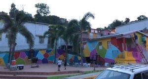 Una de las propuestas artísticas de Yaucromatic 2 es un macro mural en el sector Cantera.