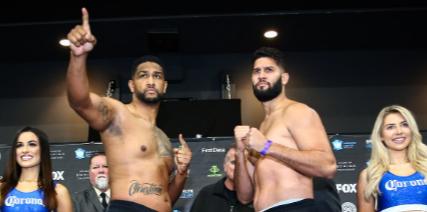 Carlos Negrón (derecha) enfrentará a Dominic Breazeale en Nueva York.