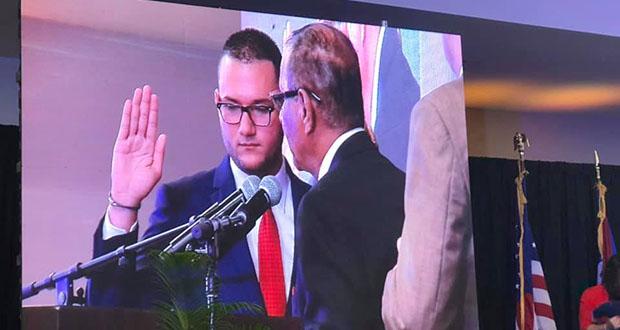 Gregory Gonsález Souchet juramentó hoy como alcalde de Peñuelas. (Facebook / Municipio de Peñuelas)