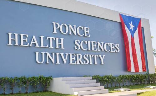 Recinto de Ponce Health Sciences University en la Ciudad Señorial.