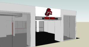 Diseño preliminar de la tienda de los Leones de Ponce. (Suministrada)