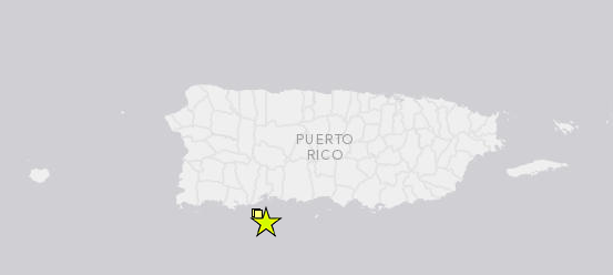 El epicentro del temblor fue localizado al Sur de Puerto Rico.