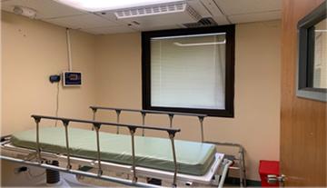 Sala de aislamiento en el Centro Médico Episcopal San Lucas en Ponce. (Suministrada)