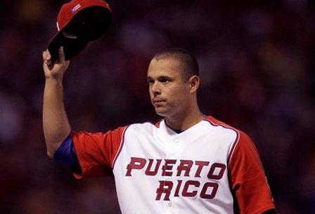 El lanzador ponceño Javier Vázquez.